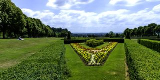 Picture of Cliveden Garden in Taplow, Backinghamshire, UK. Picture of Cliveden Garden in Taplow, Backinghamshire, United Kingdom Royalty Free Stock Photos