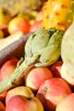 Picture close up on mixed fruits and vegetables Royalty Free Stock Image