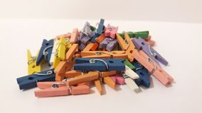 Clothes peg in different color. Picture of clothers peg in different color stock image