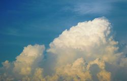 Cloudy sky. Picture of a cloudy sky Royalty Free Stock Photos