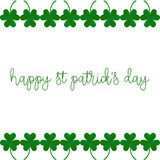 Picture with clover leaves. Royalty Free Stock Photos