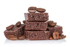 Picture of coffee beans and chocolate Royalty Free Stock Images