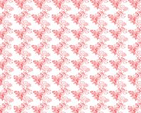Colored seamless pattern of colored leaves and flowers stock photo