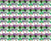 Colored seamless pattern of colored leaves stock image