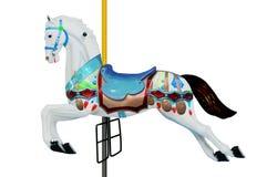 Horse carousel, isolated