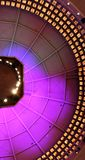 Colorful lights on a dome ceiling in the basketball hall of fame in springfield Massachusetts royalty free stock photo