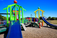 Picture of colorful playground with equipment, Levin, New Zealand Stock Photos