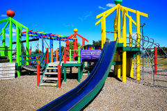 Picture of colorful playground with equipment, Levin, New Zealand Stock Image
