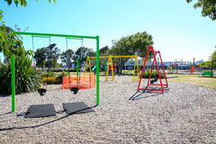 Picture of colorful playground with equipment, Levin, New Zealand Stock Photography