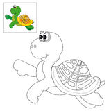 Picture for coloring a turtle . Royalty Free Stock Image