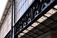 Cool Old Black Metal Structure Of Haarlem Station royalty free stock photos