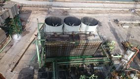 Picture of the cooling tower from the top Stock Images