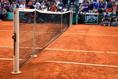 Picture from the court at Roland Garros 2012 Stock Photos