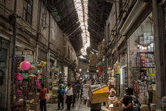 Picture of a covered street of tehran bazaar, Iran Royalty Free Stock Photography