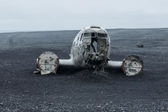 Picture of the crashed DC-3 airplane Royalty Free Stock Photography