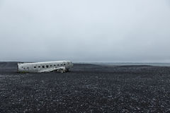 Picture of the crashed DC-3 airplane Royalty Free Stock Image