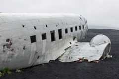 Picture of the crashed DC-3 airplane Royalty Free Stock Photos