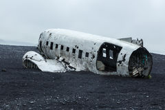 Picture of the crashed DC-3 airplane Stock Images