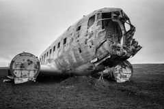 Picture of the crashed DC-3 airplane Stock Photos