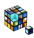 Picture cube Stock Photography