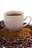 Picture a cup of coffee Royalty Free Stock Photography