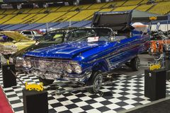 Custom low rider car. Picture of custom low rider car in display during the autorama montreal september 16-17 2017 Stock Photography