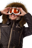 Picture of cute skier Stock Image