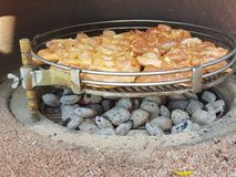 Chicken barbecue. The picture of a delicious chicken barbecue outdoors Stock Images