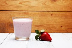 Picture of a delicious looking strawberry smoothies. Healthy and full of vitamins Royalty Free Stock Photo