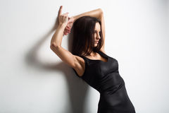 Picture of depressed woman with hands up Royalty Free Stock Images