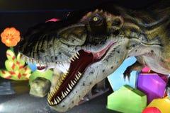 A head of dinosaur Stock Photo