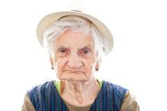 Disabled senior woman Royalty Free Stock Photos