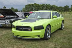 Dodge charger. Picture of dodge charger rt during convention chrysler at st liboire august 4-5 2018 royalty free stock images