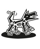 Picture of dog x-ray. Hand drawn design element. Vector. royalty free illustration