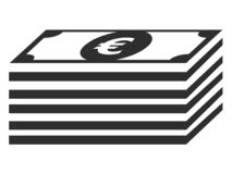 Picture of a Dollar bill symbol. Vector illustration of the Picture of a Dollar bill symbol royalty free illustration