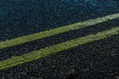 Beautifull road texture at night stock images