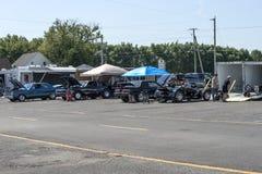 Drag racing competitors Stock Photo