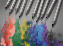Picture drawn with crayons Royalty Free Stock Images