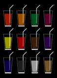 the color of the drink in a glass royalty free illustration