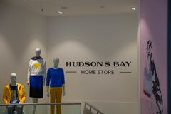 Hudsons bay department store home division stock images