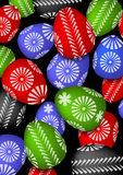 The picture of Easter eggs. The picture of most color Easter eggs Stock Images