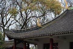 A picture of the eaves. This is a picture of the eaves of a Chinese classical garden building Stock Photography
