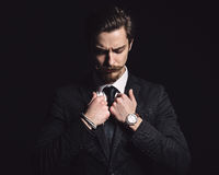 Picture of an elegant young man. Picture of an elegant young fashion man Stock Images