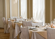 Picture of empty expensive restaurant Royalty Free Stock Photos
