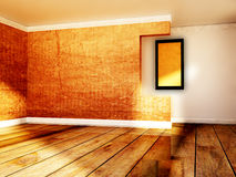 Picture in the empty room. A picture in the empty room Stock Photography
