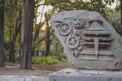 Epic ancient stone carving and design royalty free stock photos