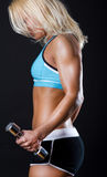Picture of exhausted sportswoman Stock Images