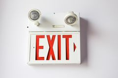 A picture of a exit sign stock image
