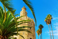 Famous Torre del Oro in Seville, Spain. Picture of the famous Torre del Oro in Seville, Spain stock photos