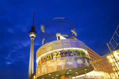 Picture of famous World Clock and TV tower located in Berlin, Alexanderplatz, Germany Stock Images